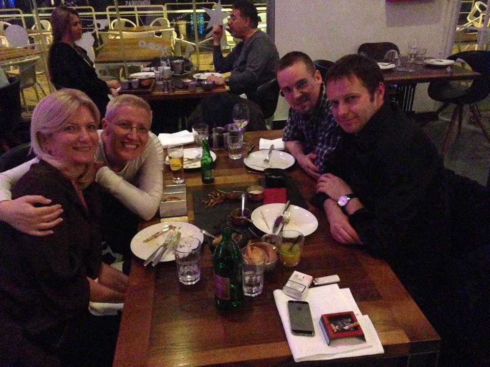 Joyfull dinner of the peer-group in Serbia