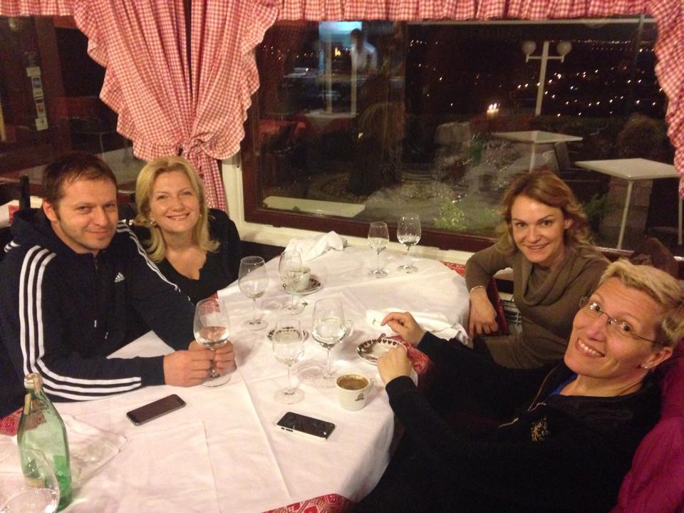 Peer-group dinner with teachers