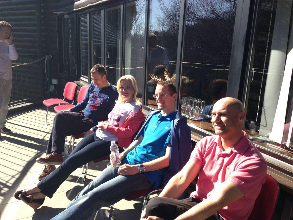 Taking a break in the sun