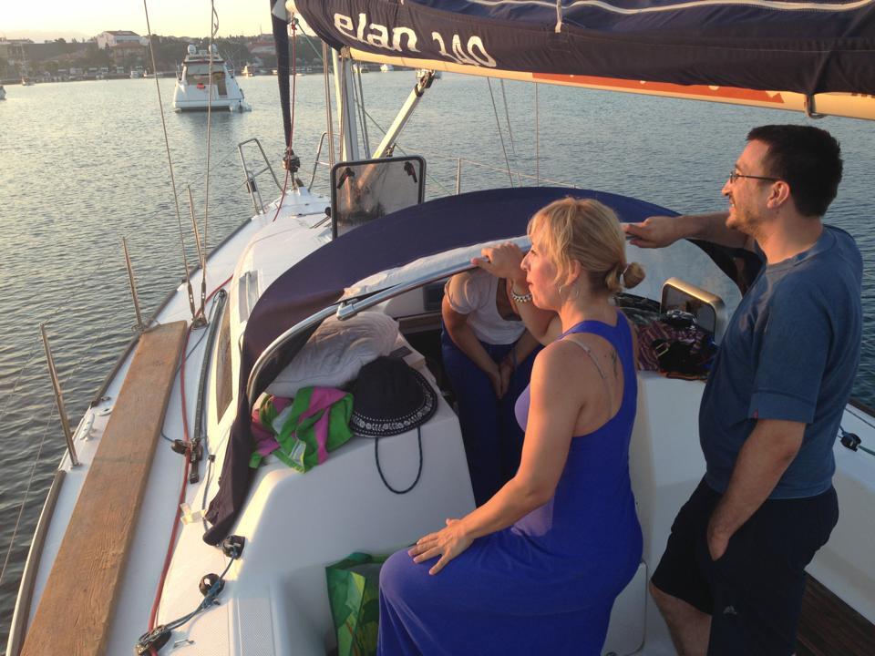 Sailing, Mirna and Boris