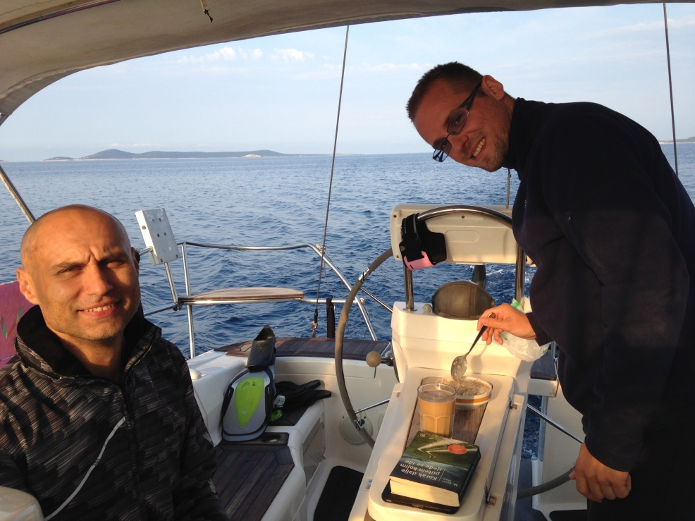 Alan and Ivan, on a sailing