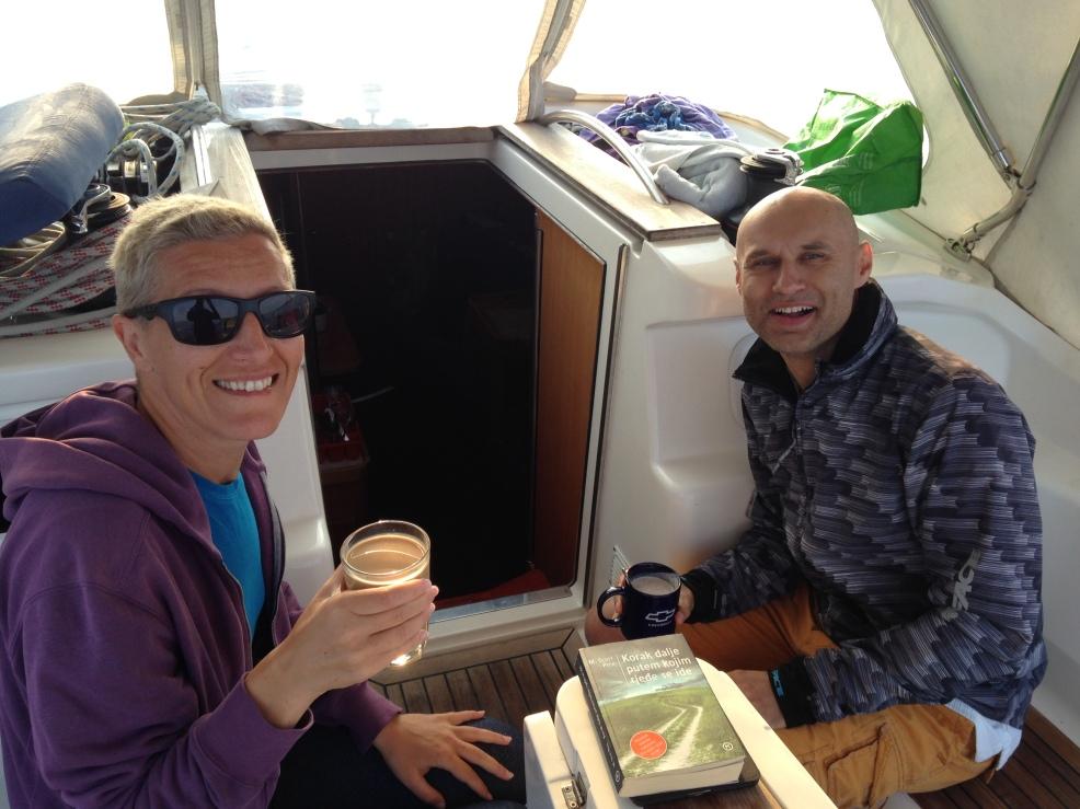 Daniela and Alan, sailing