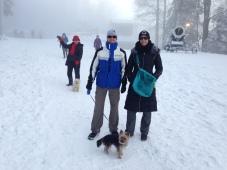 Walking Blink, our dog