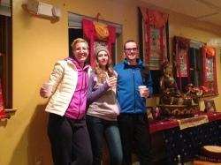 Family at the meditation retreat
