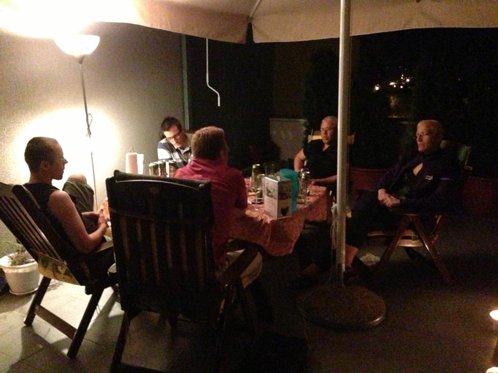 Peer group at teachers home
