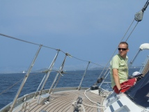 Sailing at the Adriatic sea