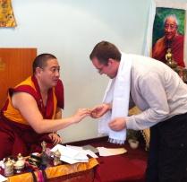 With Shechen Rabjam Rinpoche, meditation teacher