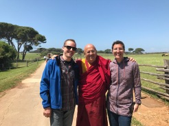 With Matthieu Ricard at Brioni island