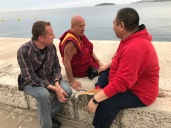 With Rabjam Rinpoche and Matthieu Ricard