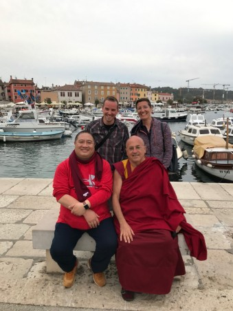 With Rabjam Rinpoche and Matthieu Ricard in Rovinj