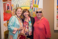 Gray Henry, Artist Tatjana Krizmanic and Sandy Gulick.